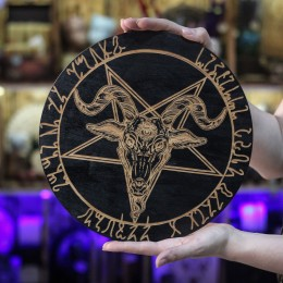 Фото Чёрный круг - Бафомет перевёрнутая пентаграмма