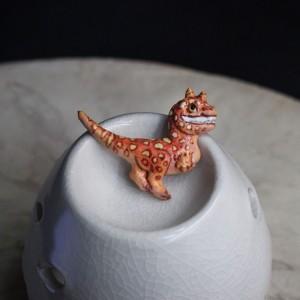 Фото Брошка Динозаврик цветной (папье-маше)