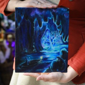"Фото Картина ""Тайна волшебника"" (дерево светится в темноте)"