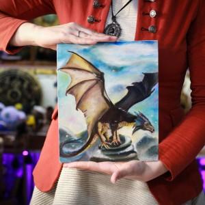 """Фото Картина с драконом """"Зоркий"""""""