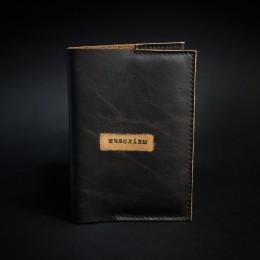 """Фото Обложка на паспорт """"Шчаслiвы"""" (коричневая кожа)"""