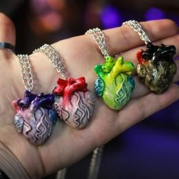 Фото Кулон анатомическое сердце, разные цвета