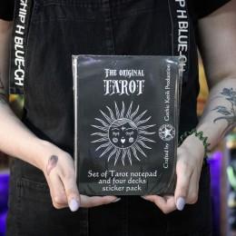 Фото Таро-блокнот для записей с комплектом наклеек в виде карт Таро