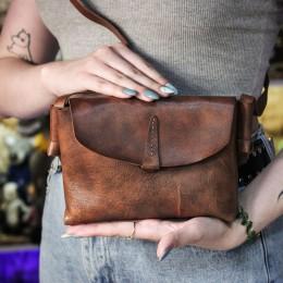 Фото Коричневая сумка ручной работы, кожа