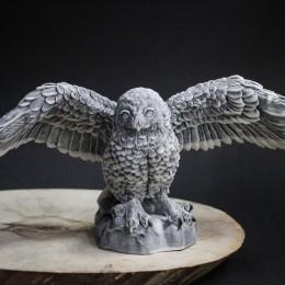 Фото Статуэтка Сова полярная с расправленными крыльями