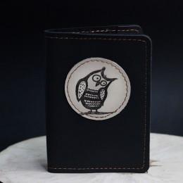 """Фото Чёрная обложка на паспорт """"Сова"""", разные"""