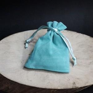 Фото Бирюзовый мешочек для бижутерии, бархатный 9*12 см