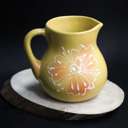 Фото Кувшинчик жёлтый с цветком, керамика