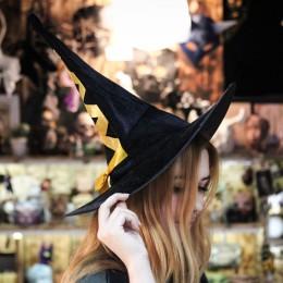 Фото Остроконечная шляпа «Ведьмочка», цветная шнуровка