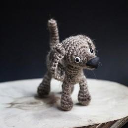 Фото Смешная собачка - игрушка ручной работы