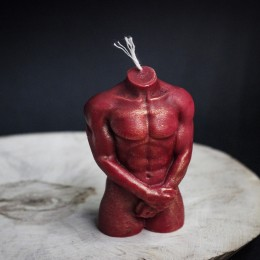 """Фото Свеча """"Адам"""", пчелиный воск с розой"""