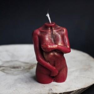 """Фото Свеча """"Ева"""", пчелиный воск с розой"""