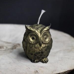 """Фото Свеча """"Маленькая Совушка"""", пчелиный воск"""