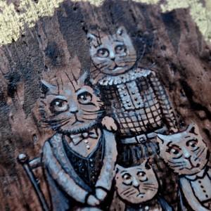 Фото Картина Семья котов