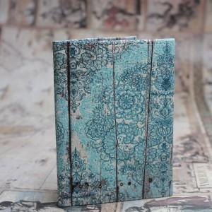 Фото Обложка на паспорт Винтаж бирюза