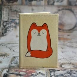 Фото Обложка на паспорт Пушистая лисичка