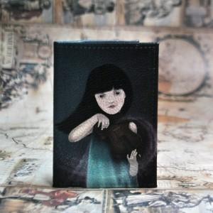 Фото Обложка на паспорт Девушка и скрипка