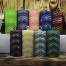 Фото Свеча столбик цветная