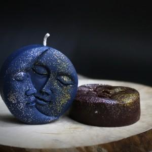 Фото Свеча Луна и солнце