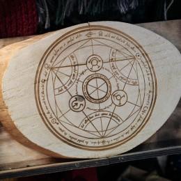 Фото Декор на спиле дерева - Алхимический круг