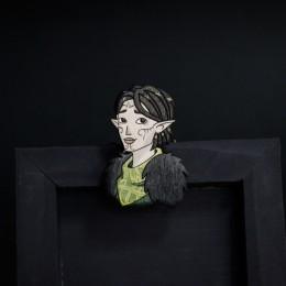 Фото Мерриль (Dragon age2) деревянная брошка