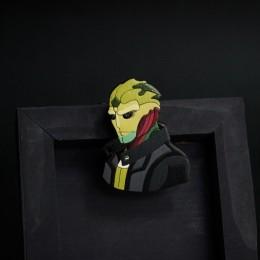 Фото Тейн (Mass Effect2) деревянная брошка