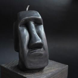Фото Свеча Истукан (чёрная)